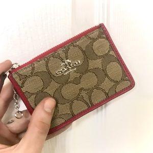 COACH Mini Skinny ID Card Case Keychain Wallet
